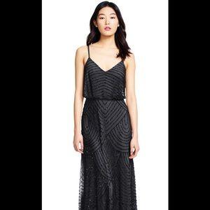 Adrianna papell beaded art deco blouson gown